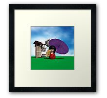 Kokeshi Doll Framed Print