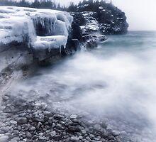 Frozen shore of Georgian Bay in winter art photo print by ArtNudePhotos