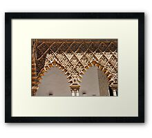 Laces at Seville - THE REAL ALCAZAR arches Framed Print