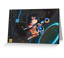 Portal chibi Chell poster Greeting Card