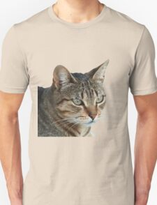 Stunning Tabby Cat Close Up Portrait Vector Isolated Unisex T-Shirt
