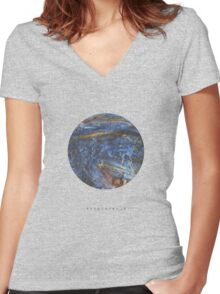 exoplanet_1 (satellite) Women's Fitted V-Neck T-Shirt