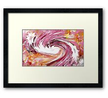 Turbulence abstract 130- Art + Design products Framed Print