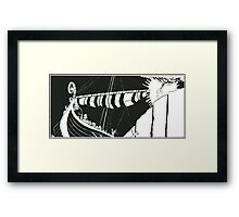 "Vikings ""Escape"" Framed Print"