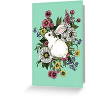 Rabbit in Flowers Greeting Card