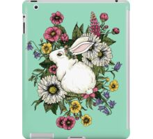 Rabbit in Flowers iPad Case/Skin