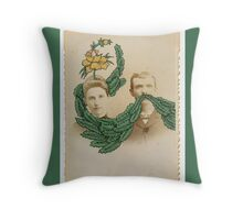 Man and Wife Throw Pillow
