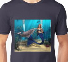 Mermaid and Dolphin Unisex T-Shirt