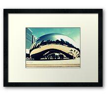 City in a Bean Framed Print