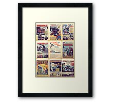 PD comics wall graphic Framed Print