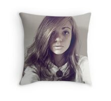 typical self portrait, it had to be done Throw Pillow