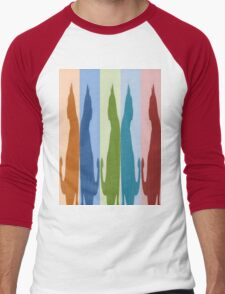 Reflected Images Of A Line Of Cats Men's Baseball ¾ T-Shirt