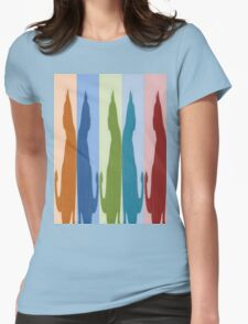 Reflected Images Of A Line Of Cats T-Shirt