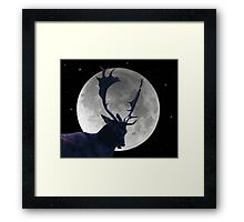 Stag and Moon Framed Print