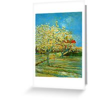 'Orchard' by Vincent Van Gogh (Reproduction) Greeting Card