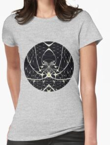 Golden Spiderweb Womens Fitted T-Shirt