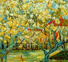 'Orchard' by Vincent Van Gogh (Reproduction) Sticker