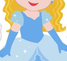 Cute Princess Cinderella in a blue dress Sticker