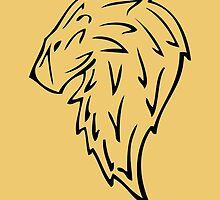 Tribal Lion Head by crossfire1013