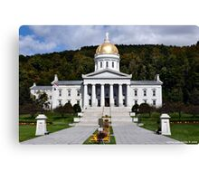 State Capital of Vermont Canvas Print