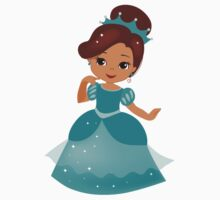 African American  Princess in a turquoise dress Kids Clothes