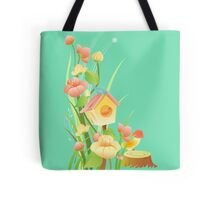Yellow and peachy watercolor flowers Tote Bag