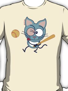 Cool cat playing baseball T-Shirt