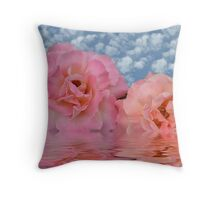 Double Peace Roses  Throw Pillow