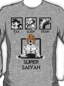 Eat Sleep Train & go Super Saiyan! T-Shirt