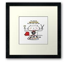 Super sushi power / Cat doodle Framed Print
