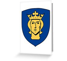 Stockholm Coat of Arms  Greeting Card