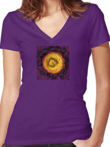 Cradled Women's Fitted V-Neck T-Shirt