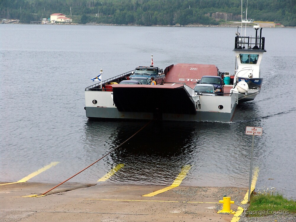 Cable Ferry at Country Harbour by George Cousins