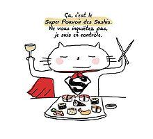Le super pouvoir des sushis / Ooh la la ! (French doodles) by eyecreate
