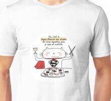 Le super pouvoir des sushis / Ooh la la ! (French doodles) Unisex T-Shirt