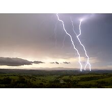 McLeans Ridges Lightning Attack 2 Photographic Print