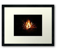 Open Fire Framed Print