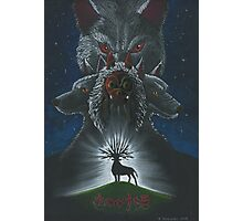 Mononoke hime poster#3 San, Moro and her wolves Photographic Print