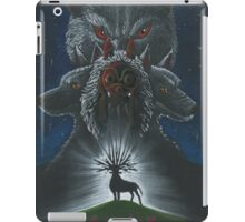 Mononoke hime poster#3 San, Moro and her wolves iPad Case/Skin