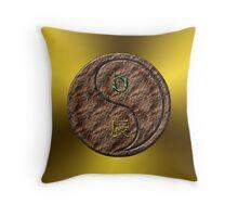 Taurus & Dragon Yang Earth Throw Pillow