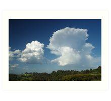 Large cumulus clouds at McLeans Ridges Art Print