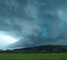 Bluey Green Hailstorm near Kyogle by Michael Bath