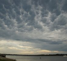 Mammatus clouds over the Richmond River at Ballina by Michael Bath