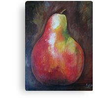 Red pear, Acrylic painting Canvas Print
