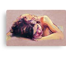 Kuni sleeping Canvas Print
