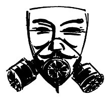 Fawkes Gas Mask Photographic Print