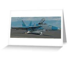 US Navy F-18E of VFA-122 Flying Eagles Greeting Card