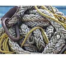 Rope and Anchor Photographic Print