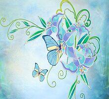 Blue Butterfly! SALE! by Vitalia