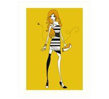 Bee Dress Art Print